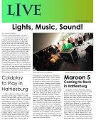 Student newsletter from Spring 2012.