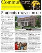 Student newsletter from Summer 2012.